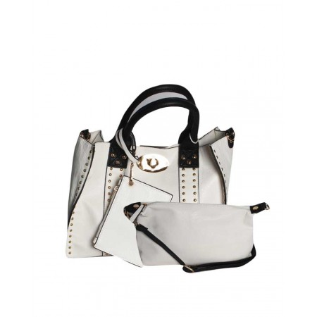 USA 3-in-1 Unique Handbag - White - Made By Handbag Republic
