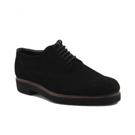 Men's Suede Oxford Shoe - Black