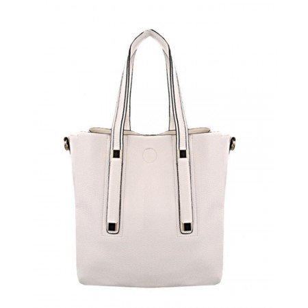 MADE IN THE USA 3-Layered Handbag - White