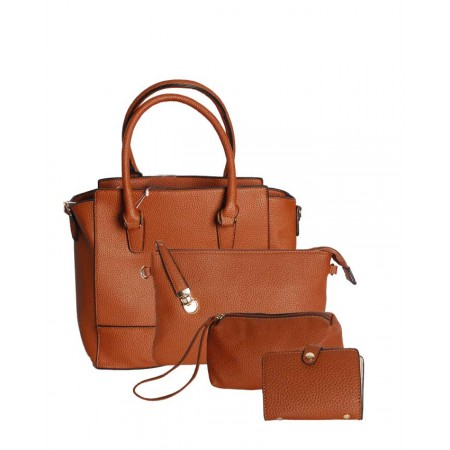 4-in-1 Unique Handbag Set - Brown - Made In The USA