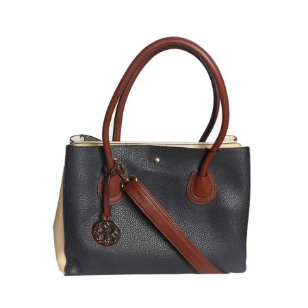Made in the USA Handbag With Unique Colour Combo - Black & Brown