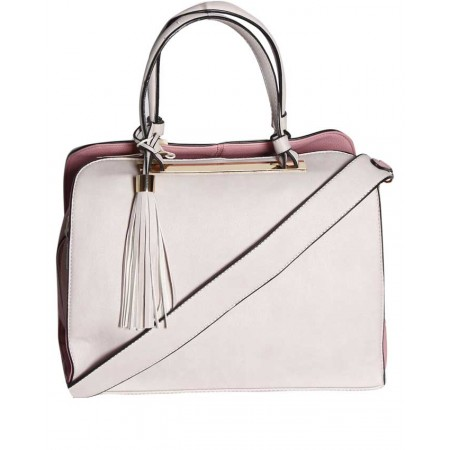 HANDBAG WITH UNIQUE DESIGN - PINK & PEACH