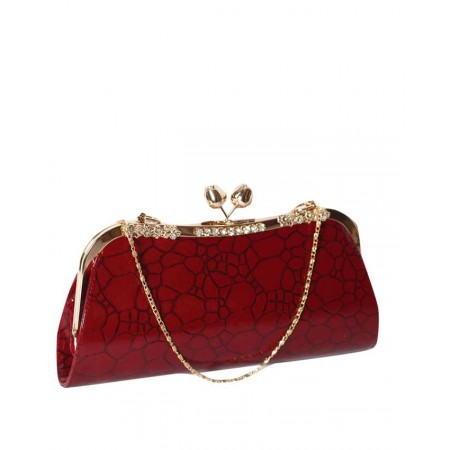 MADE IN TURKEY CLUTCH PURSE WITH PATTERNS - RED