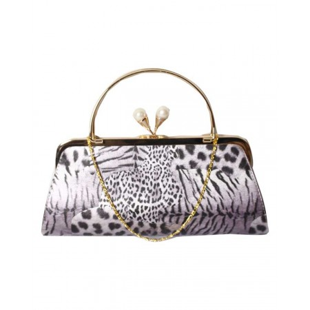MADE IN TURKEY CLUTCH PURSE WITH DOUBLE COLOR - LILAC & BLACK