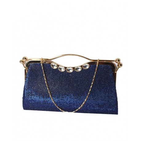 MADE IN TURKEY CLUTCH PURSE WITH UNIQUE HANDLE - ROYAL BLUE