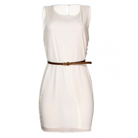 MINI DRESS FOR YOUNG LADY - CREAM
