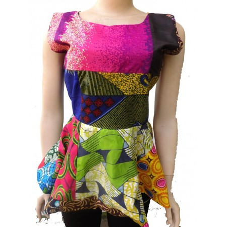 Ankara Patchwork Blouse - Multicolor