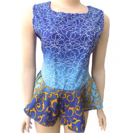 Sleeveless Ankara Peplum Blouse