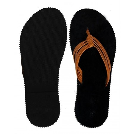 Threaded Slippers - Brown/Black