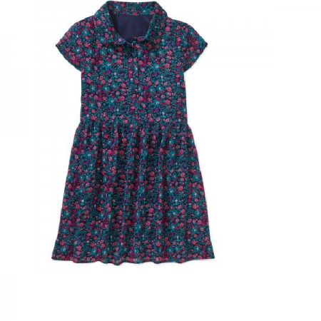 Girls' Printed Shirt Dress