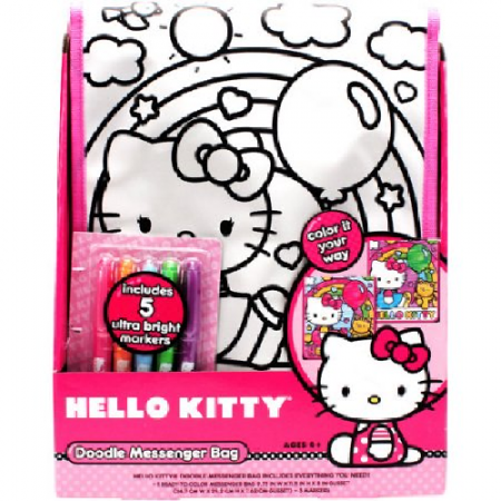 Doodle Messenger Bag Colouring Kit