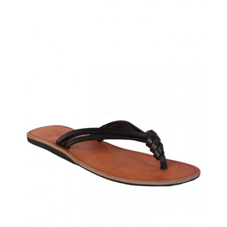 Threaded Slippers - Black/Brown