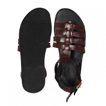 Ladies Roman Gladiator Sandals - Brown