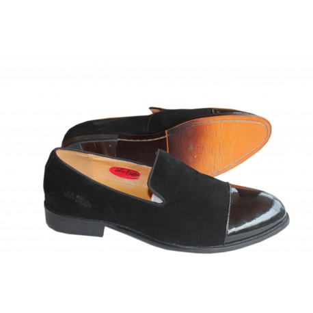 John Foster Wetloss And Suede Loafer