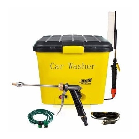 Kenai 12 Volts Complete Portable Car Washer - Yellow