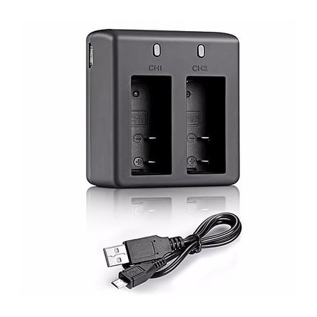 USB Dual Charger For 4k Action Camera Dual Screen