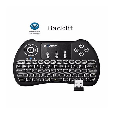 Mini Rechargable 2.4Ghz Backlight Wireless Keyboard With Mouse Touchpad
