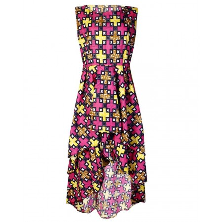 Ankara Midi Dress - Multicolor