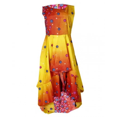 Ankara High Low Dress - Multicolour