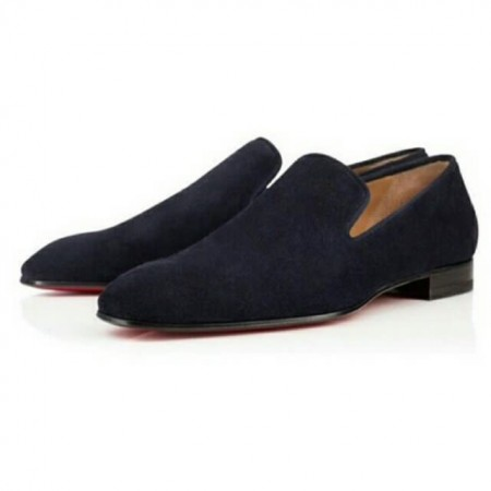 Men's Suede Loafers Shoe - Black