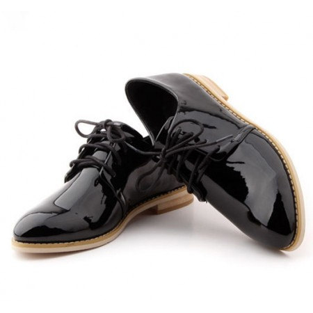 Men's Wet-Looks Oxford Shoe - Black