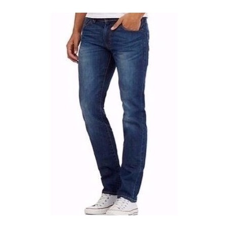 Men's Faded Jeans - Blue