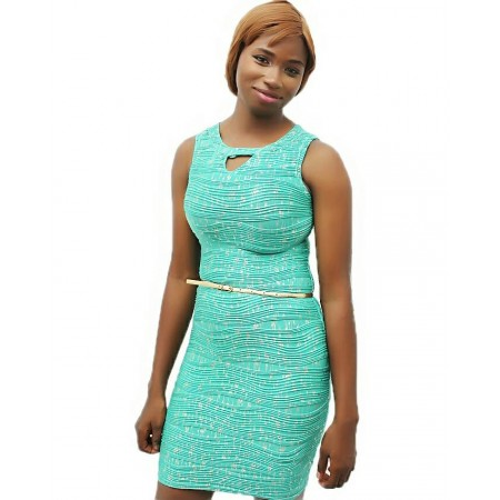 Bodycon Midi Dress - Green