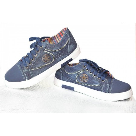 Breathable Denim Sneakers - Blue