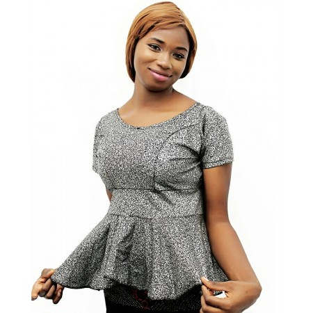 Corporate Peplum Blouse - Grey