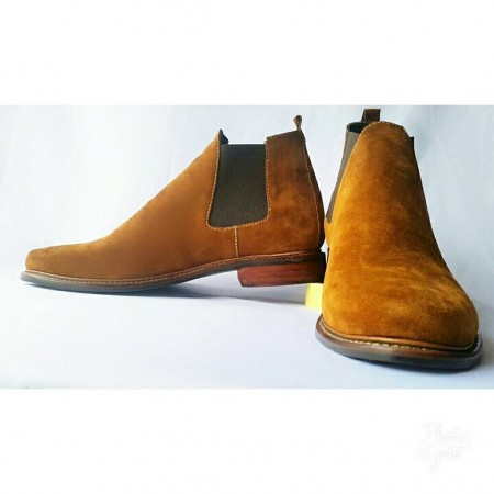 BROWN SUEDE CHELSEA BOOT SHOE