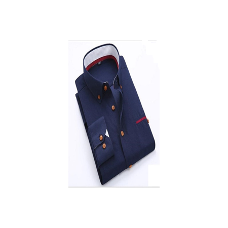 Formal Corporate Fitted Shirt - Navy Blue