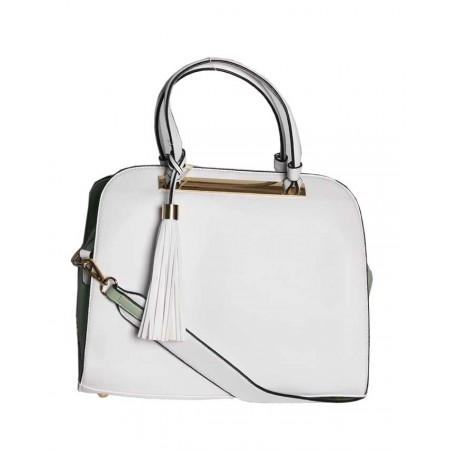 HANDBAG WITH UNIQUE DESIGNHANDBAG WITH UNIQUE DESIGN - WHITE & MINT GREEN