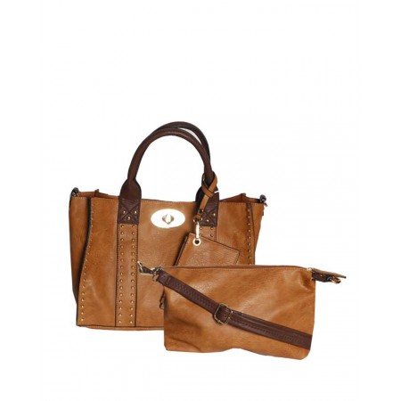 USA - 3-In-1 Handbags - Coffee Brown - Made by Handbag Republic