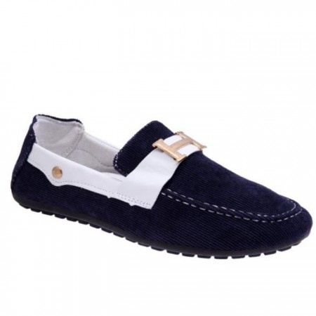 Men's Corduroy Loafers - Blue