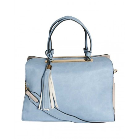 MADE IN THE USA Handbag With Unique Design - Blue & Peach