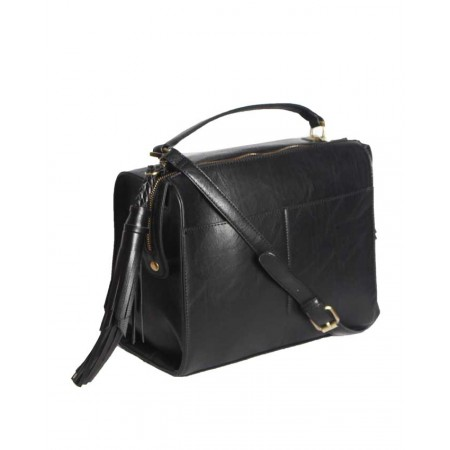 USA Genuine Leather Handbags - Black - Made by Handbag Republic