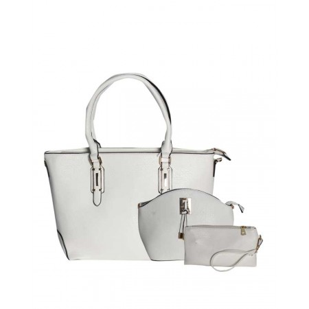 Made In The USA 3-in-1 Handbag Set - White